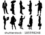 vector silhouettes of business... | Shutterstock .eps vector #185598248