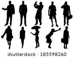 vector silhouettes of business... | Shutterstock .eps vector #185598260