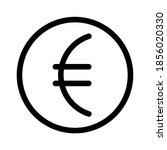 euro vector icon in flat design.... | Shutterstock .eps vector #1856020330
