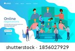 businessmen conduct... | Shutterstock .eps vector #1856027929