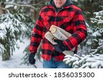 3 4 View Of Man In Red Plaid...