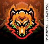foxes head sport mascot logo... | Shutterstock .eps vector #1856065903