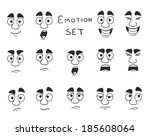 facial avatar emotions icons... | Shutterstock . vector #185608064