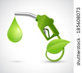 green bio fuel concept with... | Shutterstock . vector #185608073