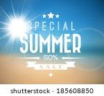 vector abstract summer sale...   Shutterstock .eps vector #185608850