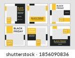 black friday sale template. set ... | Shutterstock .eps vector #1856090836
