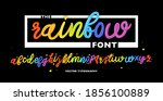 the rainbow font. creative 3d... | Shutterstock .eps vector #1856100889