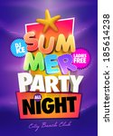 summer night party poster...
