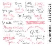 set of lettering birthday...   Shutterstock .eps vector #1856145226