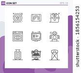 modern set of 9 outlines...   Shutterstock .eps vector #1856154253
