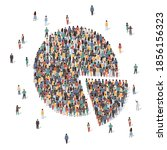 large group of people forming... | Shutterstock .eps vector #1856156323