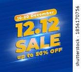 12.12 shopping day sale banner... | Shutterstock .eps vector #1856170756