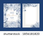 set of christmas floral... | Shutterstock .eps vector #1856181820