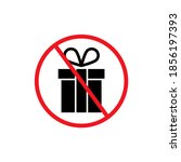 prohibited gift vector icon. no ... | Shutterstock .eps vector #1856197393