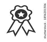 rosette icon for certificate...   Shutterstock .eps vector #1856201506