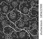 lace seamless pattern with... | Shutterstock .eps vector #185622500