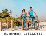 Biking Activity Couple Tourists ...