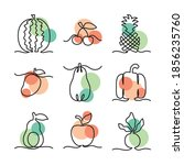 icons set of one line design of ... | Shutterstock .eps vector #1856235760