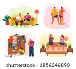 life of young couple ...   Shutterstock .eps vector #1856246890