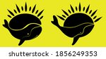 whale vector illustration logo... | Shutterstock .eps vector #1856249353