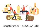 beer brewing production process ... | Shutterstock .eps vector #1856264230