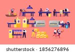 chips manufacture concept.... | Shutterstock .eps vector #1856276896