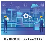 flat concept isometric...   Shutterstock .eps vector #1856279563