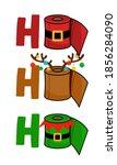 ho ho ho   merry christmas 2020 ... | Shutterstock .eps vector #1856284090