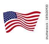 united states flag | Shutterstock .eps vector #185630930