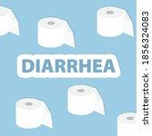 diarrhea word and tilet paper... | Shutterstock .eps vector #1856324083