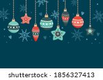 christmas card with hanging... | Shutterstock .eps vector #1856327413