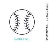 baseball ball outline icon.... | Shutterstock .eps vector #1856331133
