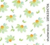 watercolor camomile seamless... | Shutterstock . vector #1856334706