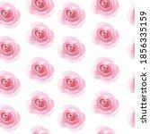 watercolor pink roses cute... | Shutterstock . vector #1856335159