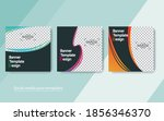 set banner social media post...   Shutterstock .eps vector #1856346370
