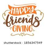 happy friends giving ... | Shutterstock .eps vector #1856347549