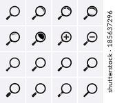 magnifier glass and zoom icons | Shutterstock .eps vector #185637296