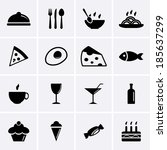 food and drink icons | Shutterstock .eps vector #185637299