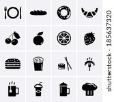 food and drink icons | Shutterstock .eps vector #185637320