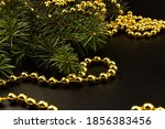 Spruce Branch And Golden Beads...