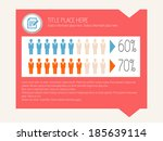 flat infographic elements.... | Shutterstock .eps vector #185639114