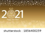 happy new year 2021 greeting... | Shutterstock .eps vector #1856400259