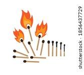 burning match   vector... | Shutterstock .eps vector #1856437729
