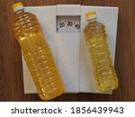 Sunflower Oil In A Bottle On A...