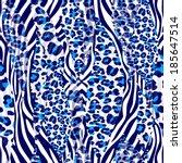 Seamless Pattern Zebra Color