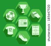 soccer flat icons set | Shutterstock .eps vector #185647520