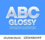 vector glossy alphabet. modern...   Shutterstock .eps vector #1856486449