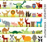 set of funny cartoon animals... | Shutterstock .eps vector #185649230