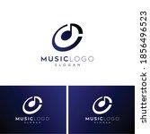 music logo abstract music logo... | Shutterstock .eps vector #1856496523