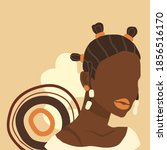 african woman. vector abstract... | Shutterstock .eps vector #1856516170